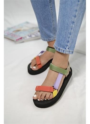 Oksit Spor Sandalet Renkli